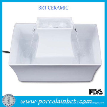 Drinking Water Square Ceramic Pet Fountain