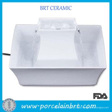 Beber água quadrado cerâmica fonte do animal de estimação