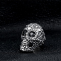 Cool Skull Black Diamond Ring voor heren