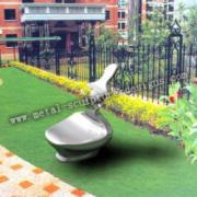 Silla de jardín metal artística