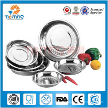cheap milti size stainless steel round plate