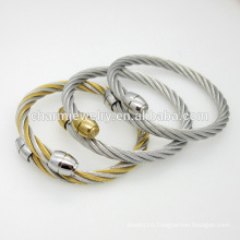 High Quality Jewelry Personalized Simple Stainless Steel Bangle Bracelet GSL008