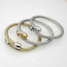 Jóias de alta qualidade personalizadas pulseira de aço inoxidável simples bracelete GSL008