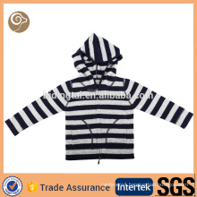 Factory knitted hoodie wool sweater design for baby