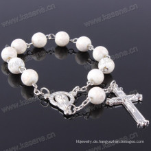 Großhandels6mm ringsum Glasperlen-Rosenbeet-Armband, preiswertes Rosenkranz-Armband