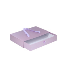 Customized Logo Sliding Style Paper Packaging Box Gift boxes Drawer Box with Ribbon Handle