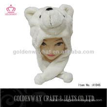 Fashion design plush bear hat