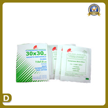 Suprimentos médicos de gaze esterilizada