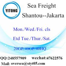 شانتو بور الشحن البحري إلى جاكرتا