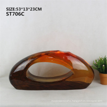 Grey high end transparent resin modern sculpture