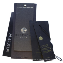 Wholesale Custom Factory Price Black Plastic Hang Tag String With Square Hole