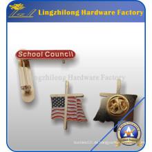 Fabrik hergestelltes Gold Plated School Badge