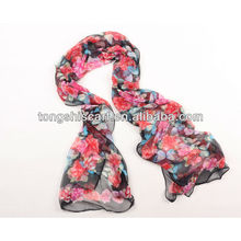 бабочка печати полиэстер шарф