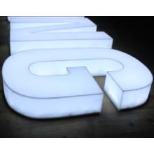 Lettres acryliques pleines de signe de la lumière LED pour extérieur