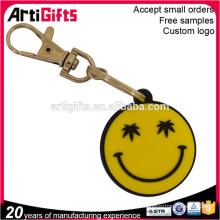 Promotional cheap custom soft pvc emoji key chain,emoji keyrings