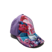 children cute purple baseball cap sublimation printing logo