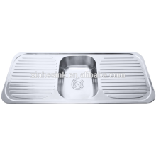 Double draining board sink kitchen accessory
