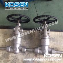 Válvula de globo de acero forjado sello de presión 2500lb F321