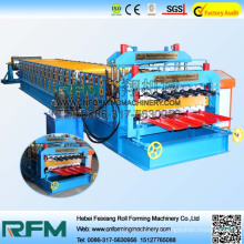 Hydraulic drive aluminum double layer roll forming machine