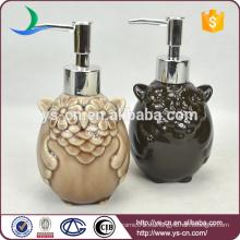Baño de cerámica del búho Accesorios Dispensador de la loción