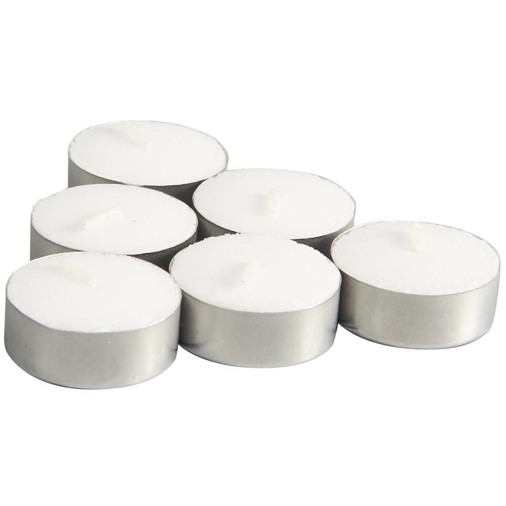 Utökad 8hour Burn Tealight Candles White Unscented