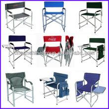 Chaise directeur pliante avec table d'appoint thé et sac amovible et magazine
