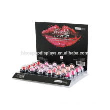24 Lipstick Maquillaje Estética Stand Display Rack Organizer Acrílico Venta al por mayor Lip Gloss Display Case