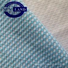 tela de malla del panal del algodón del poliéster para la ropa