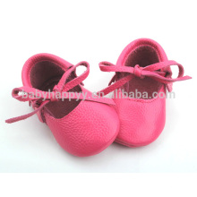 Pretty pink girls dress shoes outdoor baby leather ballet shoes