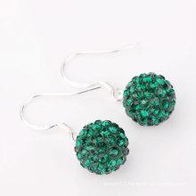wholesale fashion shamballa basketball wives seed bead earrings