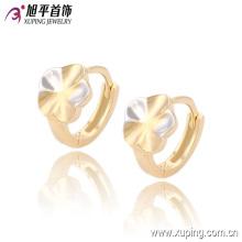 Newest Fashion Fancy Two- Stone Multicolor Flower Jewelry Hoop Earring for Women - 90700