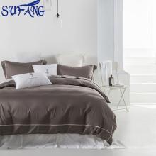 2017 New Projetado cetim Bordado Hotel Conjuntos de Cama de algodão Egípcio conjunto de cama