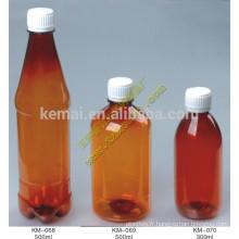 Bouteille en PET ambré de 120 ml