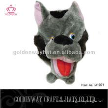 Patrón de perro loco sombrero de fiesta de invierno