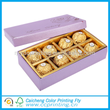 2016 Luxury packaging cardboard chocolate bar box