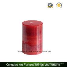 Vela de pilar hecho a mano de aroma para la decoración casera
