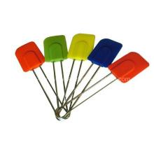 Aço inoxidável manipular utensílios de cozinha de silicone (se-391)