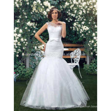 2017 Applique Robe de mariée en dentelle en dentelle de charme MW985