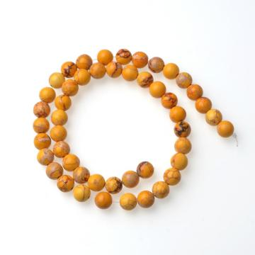 Natural Impression Jasper Round Beads Gemstone Wholesale