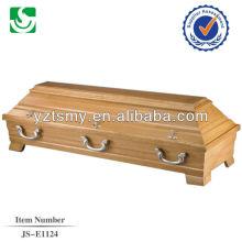 hot sale solid maple coffin box