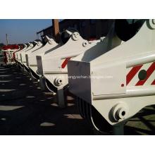 Tête de flèche télescopique hydraulique de pièces de rechange de grue sur chenilles