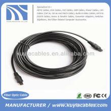 33FT 10M Digitales optisches Faser Toslink Audiokabel OD 4mm