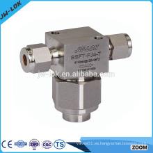 Filtros de válvulas manuales de precisión de acero inoxidable