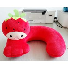 Super soft red rural strawberry u-shaped pillow