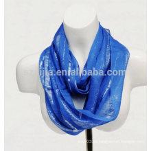 Forme la bufanda metálica viscosa de la señora del infinito del lurex