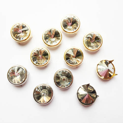 12mm Dome Studs con il diamante abbellimento, Nailhead Trim
