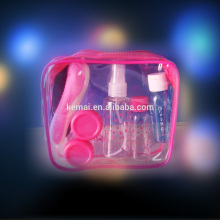New design customized travel kit PET PE PS jar set daily care travel set travelling bottle sets Factory Price Manufacturer