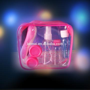 Neues Design maßgeschneiderte Reise-Kit PET PE PS Jar Set tägliche Pflege Reise gesetzt reisen Flaschen-Sets Factory-Preis Hersteller