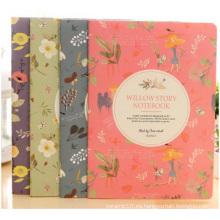 Cuaderno plástico de la manera del sistema, cuaderno impreso de la cubierta de la flor para el regalo
