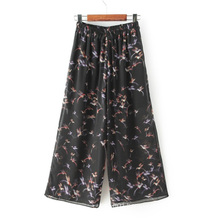 OEM High Quality Plus Size Printed Wide Leg Women Trousers